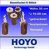 6 Stück Schwedenfeuer Baumfackel Finnenfackel Gartenfackel Höhe 35 cm Durchmesser 15-20 cm
