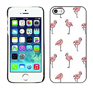 Planetar® ( Flamingo White Wallpaper Clean Pink ) Apple iPhone 5 / iPhone 5S Handyhülle Schale Hart Silikon Hülle Schutzhülle Case