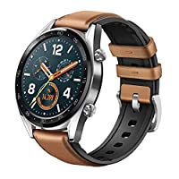 f6ab584e5  HUAWEI WATCH GT Classic Stainless steel Saddle Brown Hybrid Strap V401‏