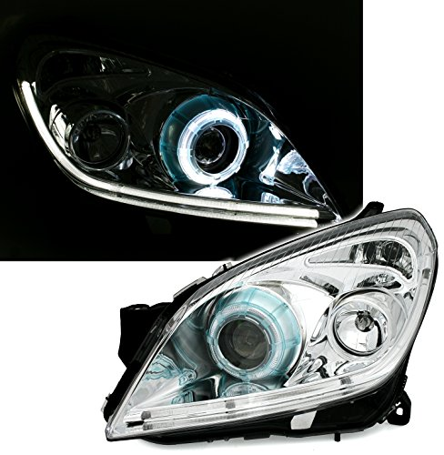 Preisvergleich Produktbild Eagle Eyes CCFL Angel Eyes Scheinwerfer Set in Klarglas Chrom