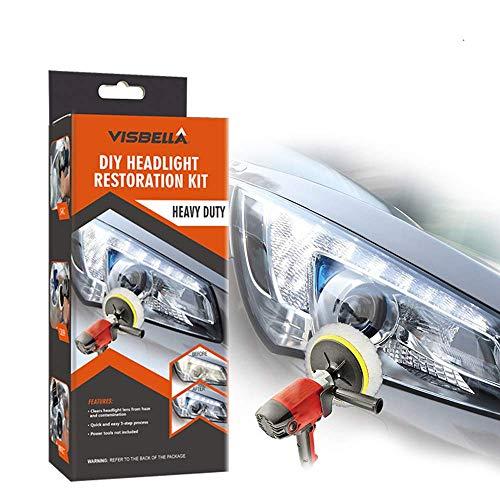 Visbella Restoration Kit Politur Leuchtturm Renovator Leuchtturm Lampe Auto Fahrzeugreinigung Professionelle Helligkeit zurückkehren