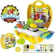Popsugar Little Chef's Kitchen Set with Accessories for Kids, G