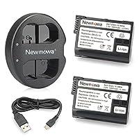 Newmowa Double USB Chargeur + 2 Batterie EN-EL15 pour Nikon EN-EL15 et Nikon 1 V1, D600, D610, D800, D800E, D810, D7000, D7100, D7200 Kit comprend:   2 batteries: 7.0V 1900mAh  1 Chargeur USB double avec un câble USB Micro: Entrée: 5V 2A Sortie: 8.4V...