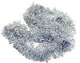 HAAC ghirlanda abete lamette lunghezza 2,7 metri colore argento per Natale