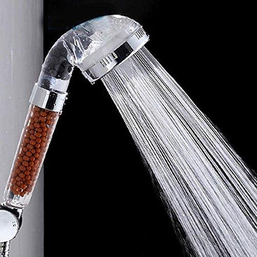Negativo Ionico Purificato Soffione doccia, Ultimate ad alta pressione e risparmio idrico, Anion Mineral Energy Balls Hair Skin Filtrazione SPA, Restrictor d'acqua rimovibile, come Jetting, Massaggio