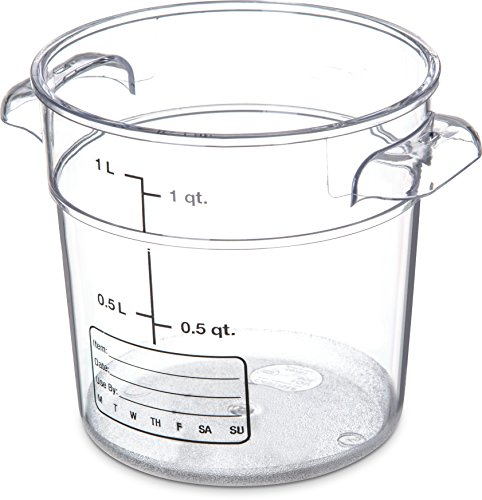 Carlisle 1076107 StorPlus 1 Qt. Clear Storage Container by Carlisle Carlisle Storplus Container
