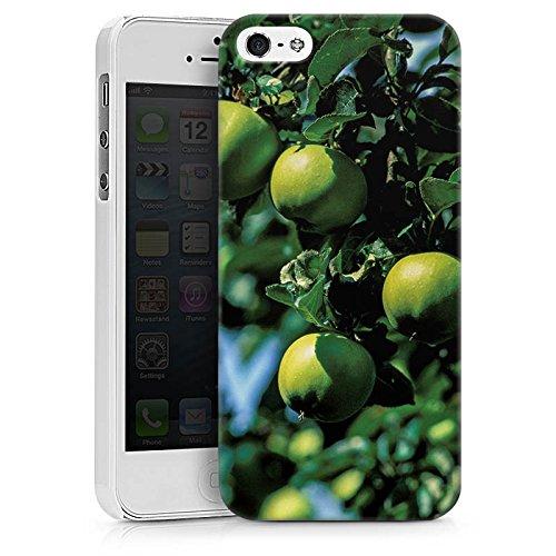Apple iPhone X Silikon Hülle Case Schutzhülle Äpfel Baum Früchte Hard Case weiß