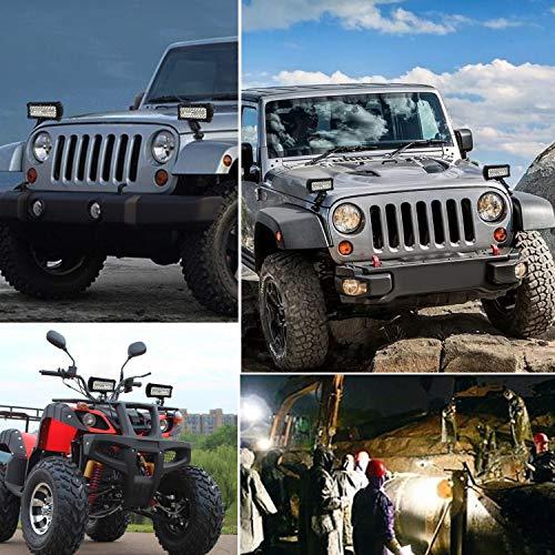 AAIWA Foco Led,Faro Luz 36W /Ámbar Blanco 2pcs Focos LED de Trabajo,Luces Antiniebla IP67 Impermeable y Potente para Coche,Todoterreno Camion,Quad,Moto,Tractor,4x4