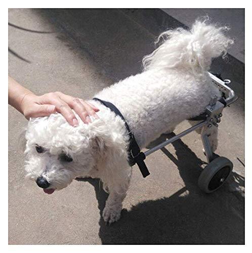 NYDZDM Haustier-Rollstuhl-Breathable Komfort-Hunderollstuhl-ältere Wanderer-Wiederaufnahme-Tragetasche For Kleine Hunde 2 Räder (Size : XXS)
