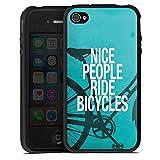 Apple iPhone 4s Coque en Silicone Étui Silicone Coque Souple Nice People Ride...