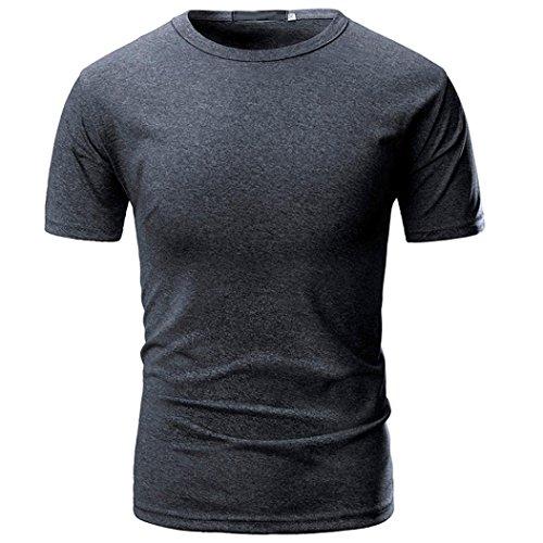 Tops Sannysis Tankshirt Muscle Ärmelloses T-shirt Tank Top Persönlichkeit Tarnung Männer Beiläufig Schmales Kurzarmhemd Top Bluse (XL, Grau-7)