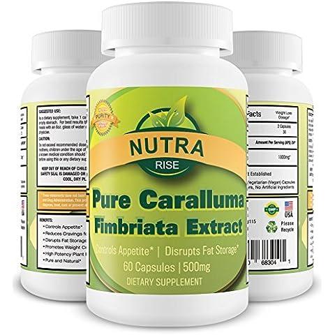 Pure Caralluma Fimbriata estratto - Forza massima per la perdita di peso, Fat Burner Supplemento (Servizio Burner)