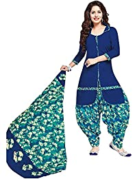 Baalar Women's Cotton Dress Material (taos505_Free Size_blue)