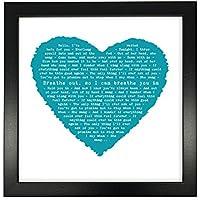 Foo Fighters Everlong, forma de corazón romántico personalizado impresión enmarcada en ...