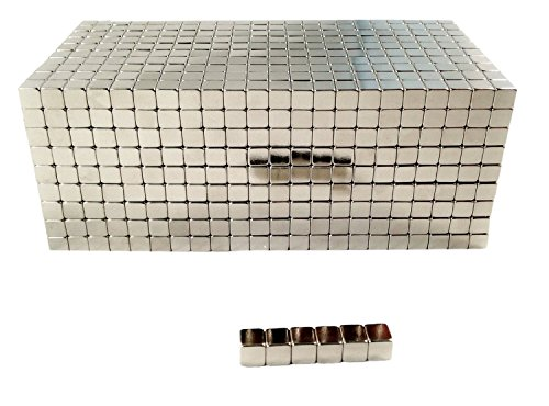 Oblique Unique 100 Pieces Neodymium Super Magnets Cubes 5 x 5 x 5 m