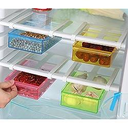Wjkuku Contenitore alimentare sotto mensola per frigorifero e freezer, multifunzione, salvaspazio, in plastica, da cucina Green