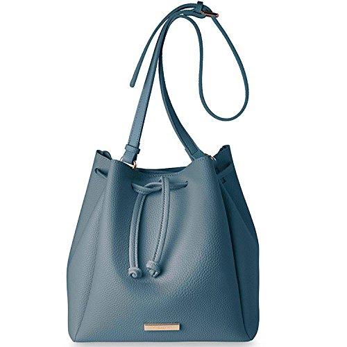 KATIELOXTON Powder Blue Chloe Bucket Bag -