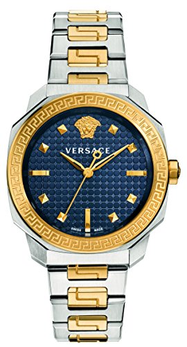 Versace Women's 'Dylos' Swiss Quartz Stainless Steel Casual Watch, Color Two Tone (Model: VQD140016)