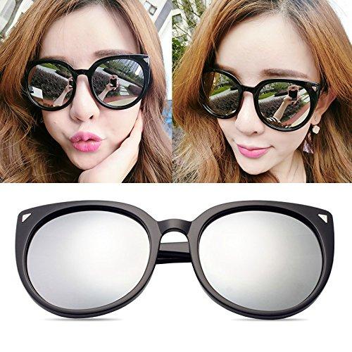 Sonnenbrillen Elegante Persönlichkeits-sonnenbrille Dame Mode Polarisierte Sonnenbrille 100% Uv-schutz Schwarzes Frame weißes Quecksilber (Sammelbeutel)