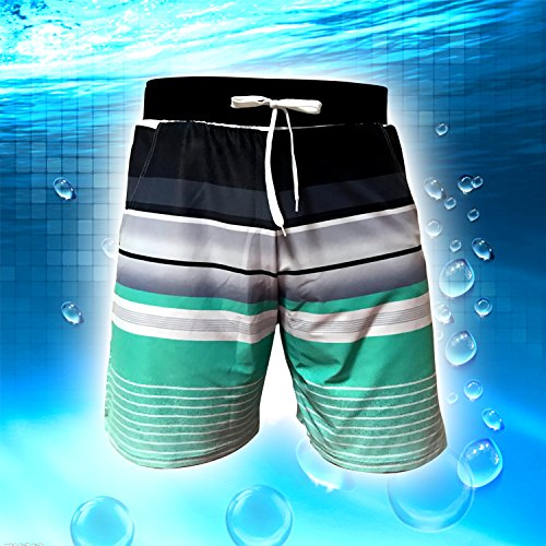 DIERDI Pantaloncini a rapida asciugatura degli uomini con elastico Verde