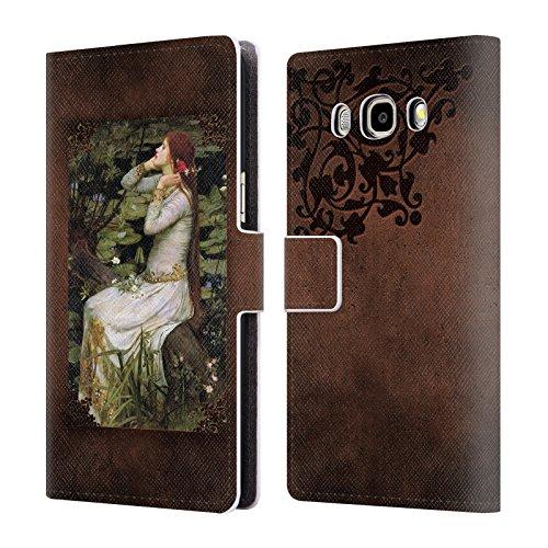 Offizielle Brigid Ashwood Wasserhaus 12 Präraffaeliten 2 Brieftasche Handyhülle aus Leder für Samsung Galaxy J5 (2016)