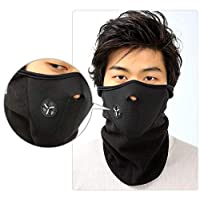 غطاء رأس للوجه مقاوم للرياح للرقبة مع غطاء للرأس للدراجة والدراجات والدراجات والدراجات الرياضية أسود