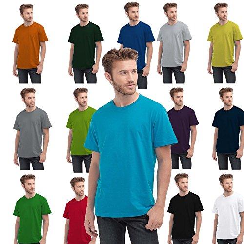 Maglietta Maniche Corte Uomo Stedman Classic T-Shirt Manica Corta Cotone 100% Rosso