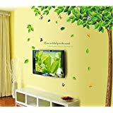 Ascent Decals Design 'Bestselling Leaves Tree' Wall Sticker (PVC Vinyl, 90 Cm X 60 Cm)
