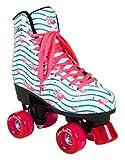 Rookie Rollerskates Flamingo Skate, Damen 37 Weiß/Multi