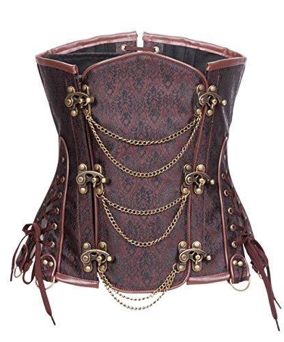bslingerie women steampunk steel boned underbust corset - 51lDeScZGWL - Bslingerie Women Steampunk Steel Boned Underbust Corset