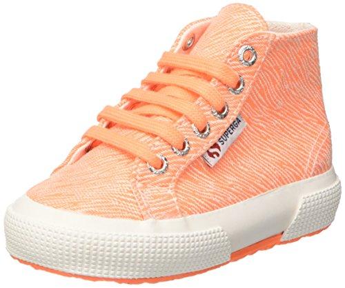 Superga 2795-Fabriczebraj, Sneaker a Collo Alto Bambina Arancione