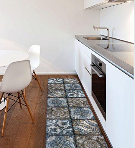 Viva, vista, tappeto, multicolore (blu/grigio), 50 x 120 cm