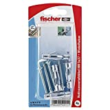 Fischer Hohlraum-Metalldübel HM 5 x 37 HK SB-Karte, 4 x Winkelhaken mit Bund M 5 x 60, 050911