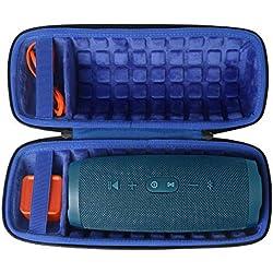 co2CREA Étui de Voyage Rigide Housse Cas pour JBL Charge 4 Enceinte Portable (Bleu Royal)