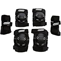 Powerslide Schoner Standard Tri-Pack - Conjunto de protecciones, color Negro, talla L
