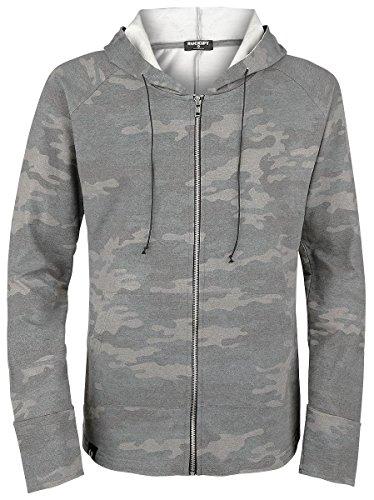 Rockupy Washed Camo Hoody Jacket Sweat à capuche zippé camouflage camouflage