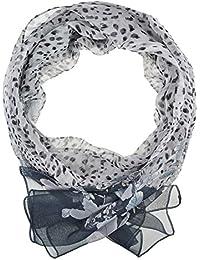 Chiffon Fashion Scarf / Animal Flower Printed Classy Scarves (Flower Spotted - Grey)