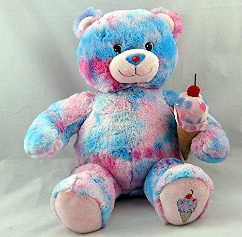 build-a-bear-plush-bubble-gum-ice-cream-teddy-baskin-robbins-pink-blue-cherry-by-build-a-bear