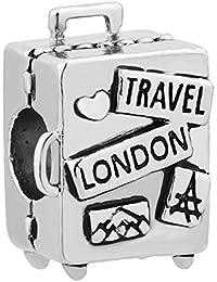 Abalorio único para pulsera de abalorios de amor para viajar.