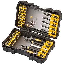 DeWalt DT70600T-QZ - Juego de 26 piezas de impacto en estuche tipo Tough Case para atornillar con llaves de vaso de limpieza fácil. Llave de vaso de limpieza fácil 8, 10mm, puntas IMPACT TORSION de 85mm: Ph2 x1, Ph1 x1, de 50mm: Ph2 x2, Pz2 x2, Pz3 x1, de 25mm: Pl8 x1, Pl10 x1, T20 x2, T25 x2, T30 x2, Pz2 x7, Pz3 x1, guía telescópica magnética.