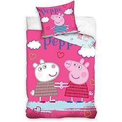 Juego de cama infantil de 140 x 200 cm Peppa y Suzy Sheep