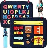 HUADADA Montessori Spielzeug ,Beschäftigtes Board für Kleinkinder,Basic Motor Skills Activity Board Frühpädagogisches…