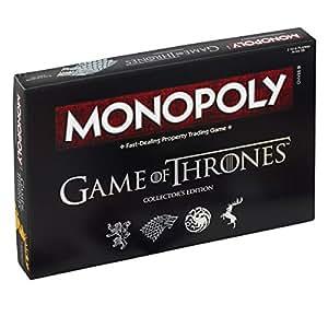 Winning Moves 024389 - Gioco da Tavolo Monopoly Game of Thrones, Edizione da Collezione Versione Inglese
