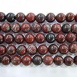 thetastejewelry 4mm redondo rojo flores Jasper perlas 15pulgadas 38cm joyas haciendo collar pulsera de curación