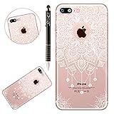 Custodia iPhone 7, Cover iPhone 8 Mandala Silicone, SainCat...