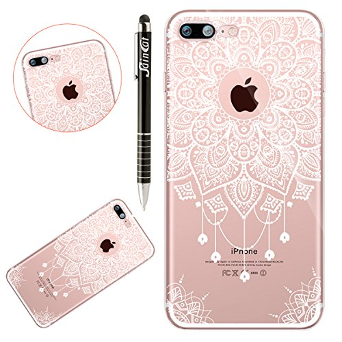 Custodia iPhone 7, iPhone 8 Cover Silicone Trasparente, SainCat Cover per iPhone 7/8 Custodia Silicone Morbido, Shock-Absorption Custodia Ultra Slim Transparent Silicone Case Ultra Sottile Morbida Gel Mandala #5