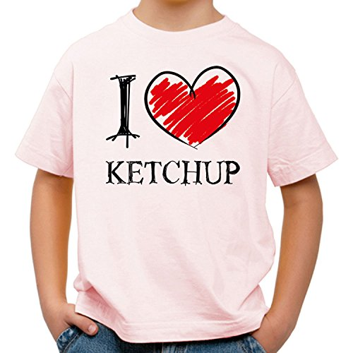 I Love Ketchup Fun Kinder T-Shirt_rosa_158/164