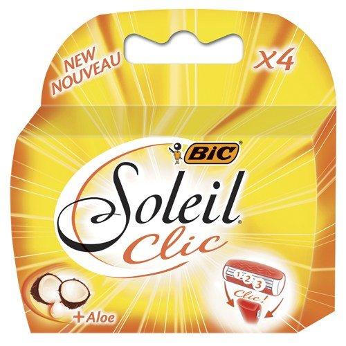 BIC Soleil Clic Lady Triple Blade Refill Patronen (4Stück) für die Verwendung mit BIC Soleil Clic Lady Triple Blade Rasierer System (Refill-patronen Blade Razor)