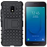 ITbEST Hybrid Armor Defender Kickstand Back Cover For Samsung Galaxy J2 Core - Black