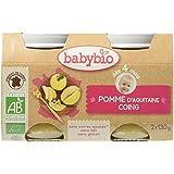 Babybio Pots Pomme d'Aquitaine Coing 260 g - Lot de 6